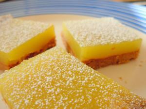 New Year's Recipes: Lemon Bars and Chocolate Souffle